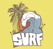 Retro Surf T-Shirt Design Kids Clothes