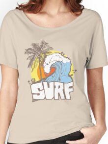 Retro Surf T-Shirt Design Women's Relaxed Fit T-Shirt