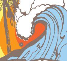 Retro Surf T-Shirt Design Sticker