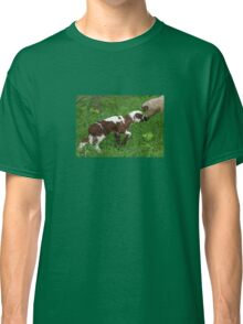 Cute Brown and White Lamb with Ewe Classic T-Shirt