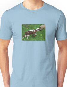 Cute Brown and White Lamb with Ewe Unisex T-Shirt