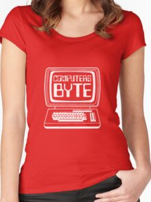 Computers Byte Women's Fitted Scoop T-Shirt