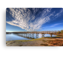 Quinta do Lago The Wooden Bridge Canvas Print