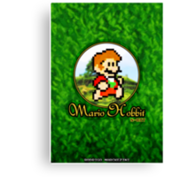 Mario Hobbit (Print Version) Canvas Print