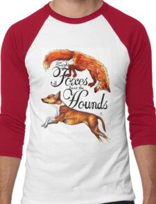 Tonight The Foxes Hunt The Hounds Men's Baseball ¾ T-Shirt