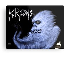 Krong, the Spray-Painting Yeti drawing 2 Metal Print