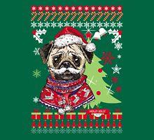 Pug Christmas Sweater Unisex T-Shirt