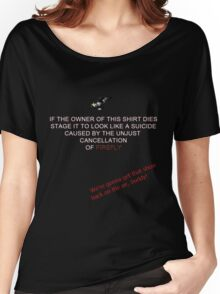 Firefly&Community: we'll bring the show back! - black version Women's Relaxed Fit T-Shirt