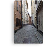 cityscape street in old town Canvas Print