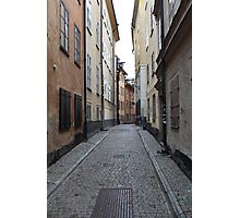 cityscape street in old town Photographic Print