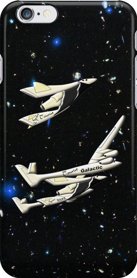 Virgin Galactic - Space Tourists iPhone case by Dennis Melling