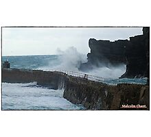 """ A cold morning at Portreath"" Photographic Print"