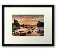 Coastal Sunrise. Framed Print