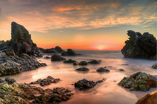 Coastal Sunrise. by Julie  White