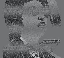 Bob Dylan Lyric Portrait by Donal Murphy