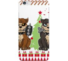 Pit bull Christmas Sweater iPhone Case/Skin