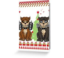 Pit bull Christmas Sweater Greeting Card
