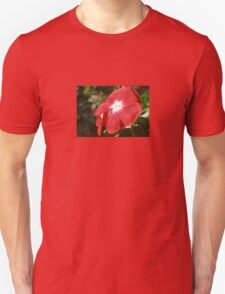 Close Up Of A Red Busy Lizzie Flower Unisex T-Shirt