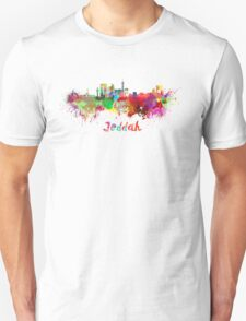Jeddah skyline in watercolor T-Shirt