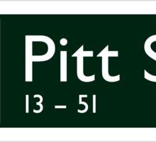 Pitt St., Sydney Street Sign, Australia Sticker