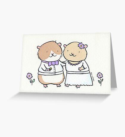 Hamster Wedding Greeting Card
