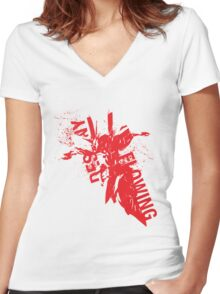 "Zone of the Enders - ""Flowing Destiny"" Women's Fitted V-Neck T-Shirt"