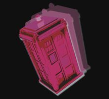 Pink Tardis by drwhobubble