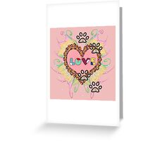 Traces of love Greeting Card