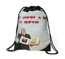 Don't judge a book by its movie. Drawstring Bag
