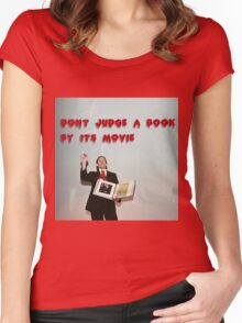 Don't judge a book by its movie. Women's Fitted Scoop T-Shirt