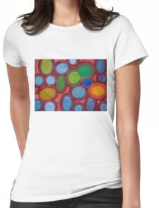 Moving coloured Round Shapes Womens Fitted T-Shirt