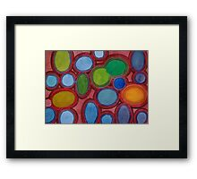 Moving coloured Round Shapes Framed Print