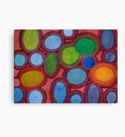 Moving coloured Round Shapes Canvas Print