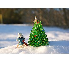 Smurf christmas tree Photographic Print