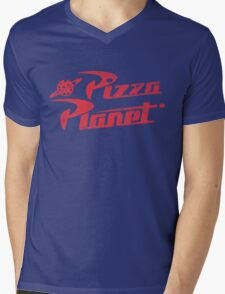 Pizza Planet Mens V-Neck T-Shirt