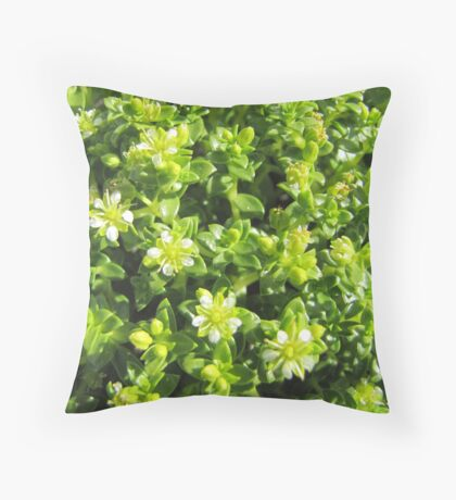 Small flowers in the forest Throw Pillow