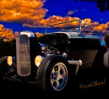 32 Ford Roadster In Silver & Black by ChasSinklier