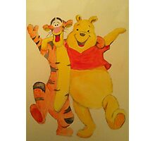 Pooh and Tigger Photographic Print