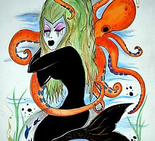 mermaid and octopus  by grostique
