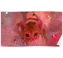 Christmas Kitty is Watching You! Poster