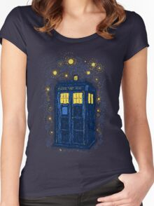 Space Time Impressionism Women's Fitted Scoop T-Shirt