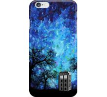 Lonely time travel phone box art painting iPhone Case/Skin