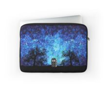 Lonely time travel phone box art painting Laptop Sleeve