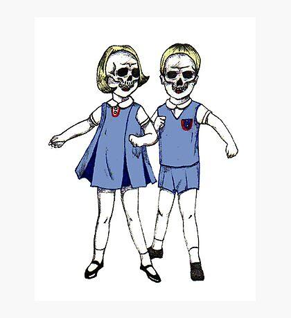 Skull Face Children Photographic Print