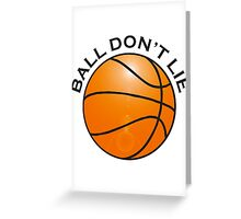 BASKETBALL, SPORT, BALL DON'T LIE, USA, America, American Greeting Card