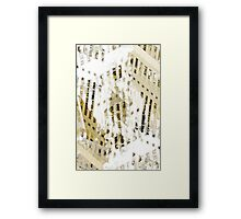 Abstract city buildings pattern Framed Print