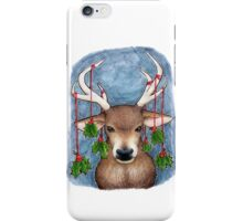 Deer with Holly iPhone Case/Skin