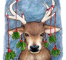Deer with Holly by srw110