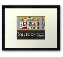 The Gold Room Framed Print