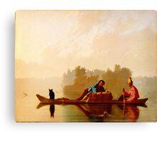 George Caleb Bingham Fur Traders Descending the Missouri WGA2205 Canvas Print